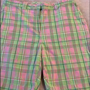 Kim Rogers plaid shorts